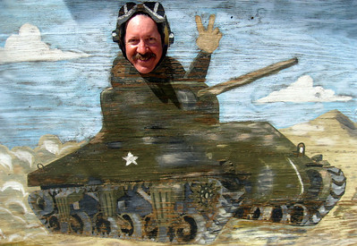 Me playing tank commander.