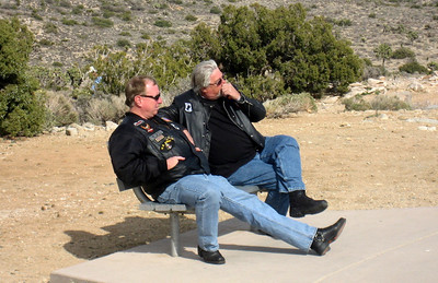 Slow Dave and Terry taking a break.