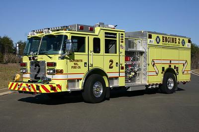 Ladysmith Volunteer Fire Company - Caroline County Station 2.  Engine 2 is this 2009 Pierce Arrow XT, 1500/1200/50.
