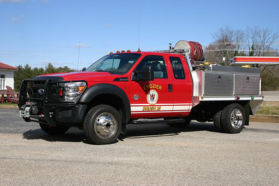 Crozier Fire and EMS Department - Goochland County Station 2.  Brush 29 is a 2010 Ford F-450.