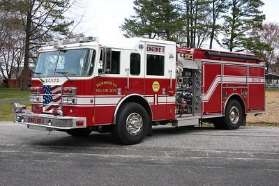 Engine 1 is a 2005 Pierce Dash 1250/970/30 with job # 16856.