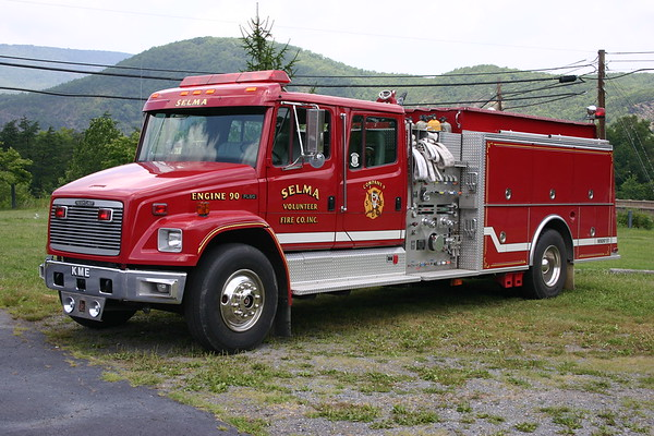 Selma, VA Engine 90, a 1994 Freightliner 80/KME  1250/1250 with GSO 2082 serial number.