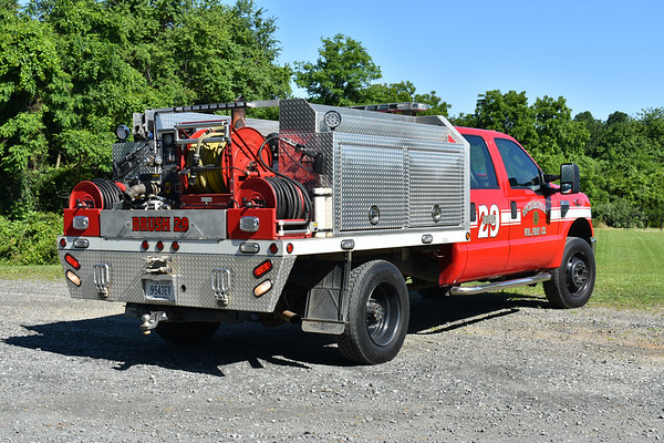 Brush 29 from Ruckersville, Virginia (Greene County) is a 2009 Ford F450/E.J. Metals/Singer with a 200/200/10.
