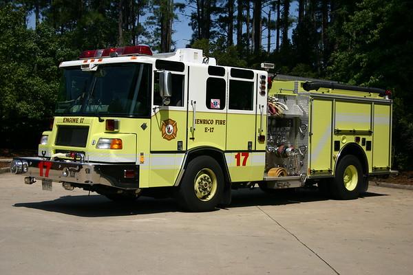 Engine 17 was a 2004 Pierce Quantum, 1500/750, sn- 15167-02.