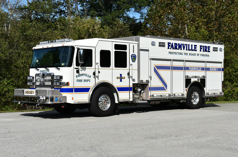 Squad 1 in Farmville is this 2017 Pierce Enforcer equipped with a 1500/750/20A and Pierce job number 31308.