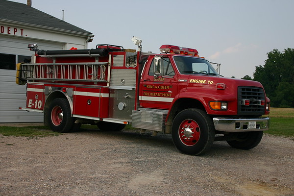 Engine 10 from Upper King & Queen VFD in Newtown, VA - 1996 Ford F/E-One  1250/1000.  sn 18027.