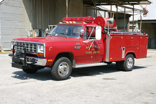 Attack 250 from Wakefield, Virginia is a 1982 Dodge Power Ram/Stahl/Slagles.  250 gallon water tank.
