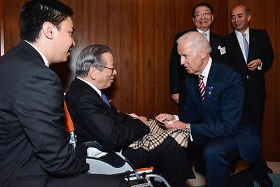 Yoshiomi Tamai; Joe Biden; Osamu Fujimura; Ambassador Kenchiro Sasae