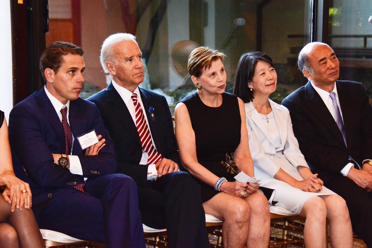 Hunter Biden; Joe Biden; Adrienne Arsht; Nobuko Sasae; Ambassador Kenichiro Sasae