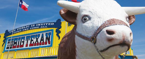 BIG TEXAN 72OZ STEAK RANCH, AMARILLO TEXAS