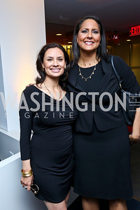 Maria Teresa Kumar, Karen Finney. Photo by Tony Powell. WHC The Global Beat. 1750 Penn. May 1, 2014