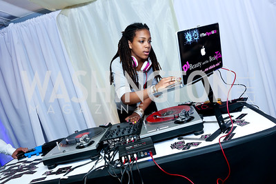 DJ Beauty and the Beatz . Photo by Tony Powell. WHC The Global Beat. 1750 Penn. May 1, 2014