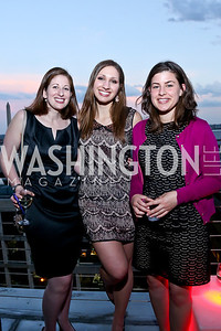 Jenni Cardamone, Katelyn Bornak and friend.  Photo by Tony Powell. WHC The Global Beat. 1750 Penn. May 1, 2014