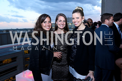 Devon Cohen, Becky Wardell, Erika Briceno. Photo by Tony Powell. WHC The Global Beat. 1750 Penn. May 1, 2014
