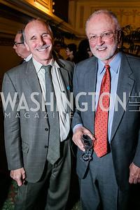 Geoff Thale, Former Rep. David Bonior. Photo by Alfredo Flores. WOLA Human Rights Awards Gala. Union Station. November 12, 2014