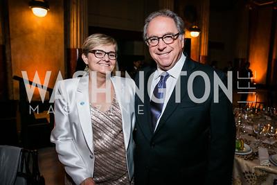 Joy Olson, Ambassador Juan Gabriel Valdés Soublette. Photo by Alfredo Flores. WOLA Human Rights Awards Gala. Union Station. November 12, 2014
