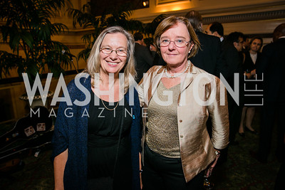Kathy Gille, Janice O'Connell. Photo by Alfredo Flores. WOLA Human Rights Awards Gala. Union Station. November 12, 2014