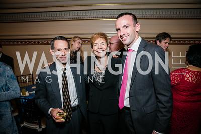 David Neigus, Meg Roggensack , Clay Boggs. Photo by Alfredo Flores. WOLA Human Rights Awards Gala. Union Station. November 12, 2014