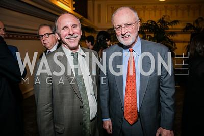 Geoff Thale, Former Rep. David Bonior . Photo by Alfredo Flores. WOLA Human Rights Awards Gala. Union Station. November 12, 2014