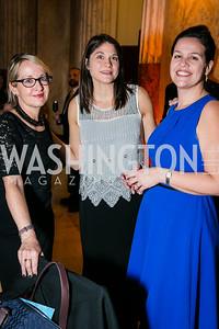 Lisa VeneKiasen, Judy Gearhart, Marselha Gocalves Margerin. Photo by Alfredo Flores. WOLA Human Rights Awards Gala. Union Station. November 12, 2014