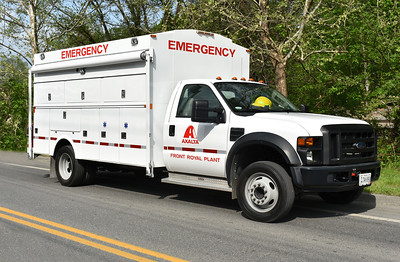"""Axalta from Front Royal, Virginia operates this 2008 Ford F450/Omaha as a """"behind the fence"""" emergency response truck.  Photographed in May of 2018 at the Apple Blossom Fireman's parade in Winchester, VA."""