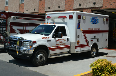 Former Medic 1-1, a 2004 Ford F450/LifeLine.  Photographed 7/2014.