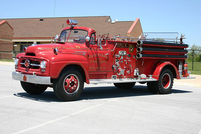 South Warren's 1953 International R182 built by Oren.  Equipped with a 600/200 with serial number 600AHP-1341..  Lots of history on this truck.  It was originally delivered to Strasburg, VA in Shenandoah County.  It was sold to South Warren in 1965, and was their first engine.  In 1993 it was sold to a collector, sold again to another collector, again to collectors in 1998 and 2008.  Last know whereabouts was in 2012, where it went to a collector in Rhode Island.  This photograph was taken in 2010 at the Apple Blossom firemen's parade in Winchester, VA.