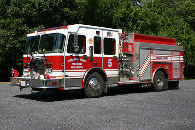 Rescue Engine 5 is this 1999 Spartan Gladiator/Smeal, 1500/1000, sn-994520 that was purchased as a demo.
