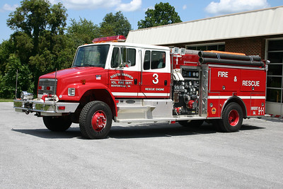 Rescue Engine 3 is a 1990 Freightliner/Pierce, 1250/750, sn-957.  RE 3 runs from the main station.
