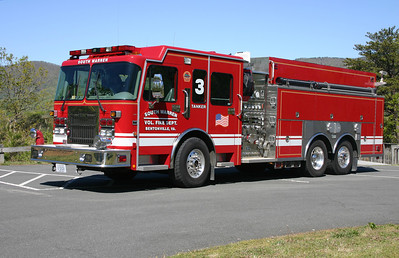 Tanker 3 is this 2000 Spartan Gladiator/Saulsbury, 1500/2000, sn-299121 that formerly served Mt. Airy, Maryland.