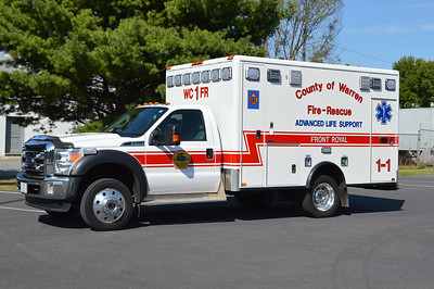 Front Royal's Medic 1-1 received this 2015 Ford F450/2016 Horton in 2016.