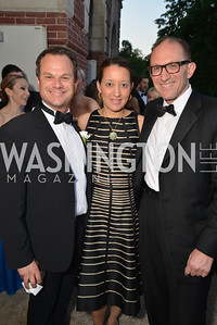 James Alefantis, Dr. Dominque Howard, Dr. Charles Faselis,  The Washington Ballet Jazz Ball at the Duke Ellington School of the Arts, May 16, 2014, Photo by Ben Droz