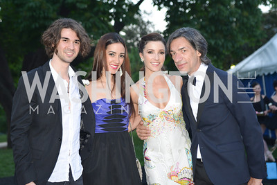 Marco Castelluzzo, Francesca Dugarte, Morgann Rose, Septime Webre, The Washington Ballet Jazz Ball at the Duke Ellington School of the Arts, May 16, 2014, Photo by Ben Droz