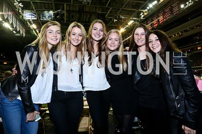 Lauren Tyree, Charlotte Jacobs, Catherine Tyree, Chlor Reid, Sydney Shulman, Alexandra Crown. Photo by Tony Powell. 2014 WIHS President's Cup Party. Verizon Center. October 25, 2014