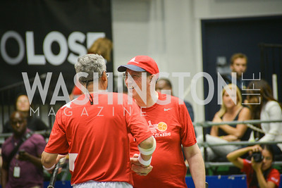 Congressman Bobby Scott, Congressman Bob Goodlatte, Washington Kastles Congressional Charity Classic, GW Smith Center, Tuesday, July 15, 2014, Photo by Ben Droz.