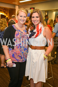 Maggie Morrison, Rebecca Morrison sung the National Anthem, Washington Kastles Congressional Charity Classic, GW Smith Center, Tuesday, July 15, 2014, Photo by Ben Droz.