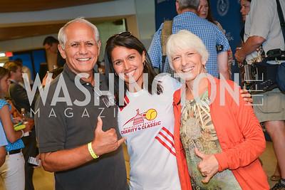 Hawaii State Senator Mike Gabbard, Congresswoman Tulsi Gabbard, Carol Gabbard,  Washington Kastles Congressional Charity Classic, GW Smith Center, Tuesday, July 15, 2014, Photo by Ben Droz.