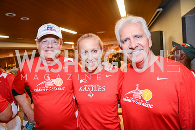 Congressman Mike McIntyre, Martina Hingis, Congressman Jim Costa, Washington Kastles Congressional Charity Classic, GW Smith Center, Tuesday, July 15, 2014, Photo by Ben Droz.