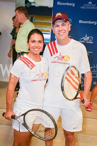 Congresswoman Tulsi Gabbard, Congressman Erik Paulsen, Washington Kastles Congressional Charity Classic, GW Smith Center, Tuesday, July 15, 2014, Photo by Ben Droz.