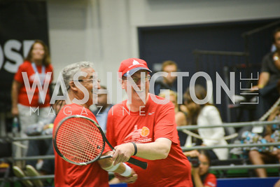 Congressman Bobby Scott, Congressman Bob Goodlatte, Washington Kastles Congressional Charity Classic, GW Smith Center, Tuesday, July 15, 2014, Photo by Ben Droz.