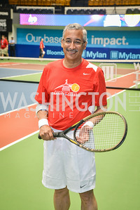 Congressman Bobby Scott, Washington Kastles Congressional Charity Classic, GW Smith Center, Tuesday, July 15, 2014, Photo by Ben Droz.