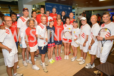 Full Team, Washington Kastles Congressional Charity Classic, GW Smith Center, Tuesday, July 15, 2014, Photo by Ben Droz.