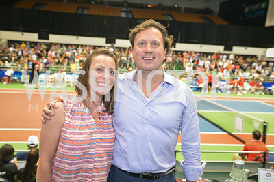 Diana Lawson, Erik Huey, Washington Kastles Congressional Charity Classic, GW Smith Center, Tuesday, July 15, 2014, Photo by Ben Droz.