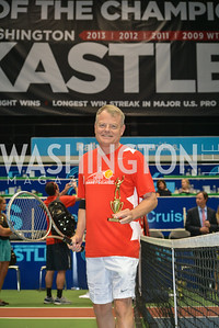 Congressman Mikw McIntyre,  Washington Kastles Congressional Charity Classic, GW Smith Center, Tuesday, July 15, 2014, Photo by Ben Droz.