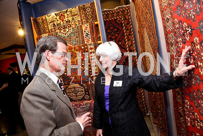 Thomas Higginson, Karen Di Saia. Photo by Tony Powell. The Washington Winter Show. Katzen Center. January 9, 2014