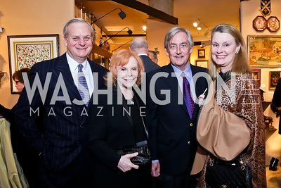 David Decklebaum, Buffy Cafritz, Robert Higdon, Genevieve Ryan. Photo by Tony Powell. The Washington Winter Show. Katzen Center. January 9, 2014