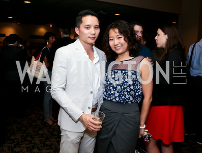 "Jerald Chau, Elizabeth Jia. Photo by Tony Powell. ""What If"" Screening. E Street Cinema. July 30, 2014"