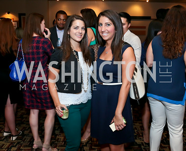 "Carleigh Krubiner, Jamie Drucker. Photo by Tony Powell. ""What If"" Screening. E Street Cinema. July 30, 2014"