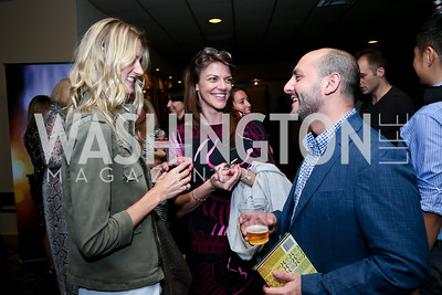"Paige Speyer, Hallie Sherard, Beri Meric. Photo by Tony Powell. ""What If"" Screening. E Street Cinema. July 30, 2014"