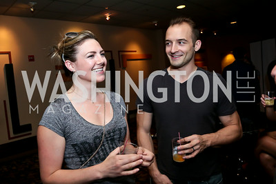 "Betsy Summers, Ben Cunis. Photo by Tony Powell. ""What If"" Screening. E Street Cinema. July 30, 2014"